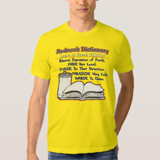 Redneck Dictionary Learn To Read Hillbilly Tshirts