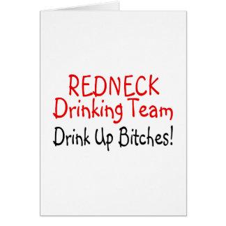 Redneck Drinking Team (Red Black) Card