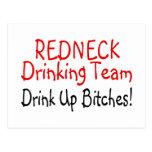 Redneck Drinking Team (Red Black) Postcard