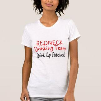 Redneck Drinking Team (Red Black) Tee Shirt
