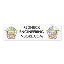 REDNECK ENGINEERING BUMPER STICKER