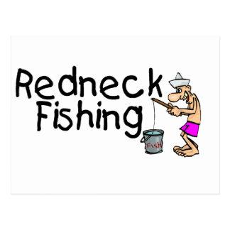 Redneck Fishing Postcard