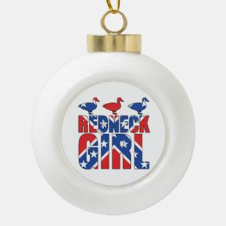 Redneck Girl Ducks Christmas Tree Ornament Ornament