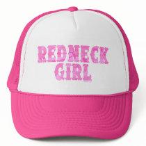 Redneck Girl Pink Camo Hats