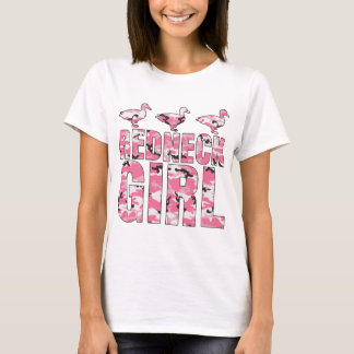 Redneck Girl Pink Camouflage 3 Ducks T-Shirt
