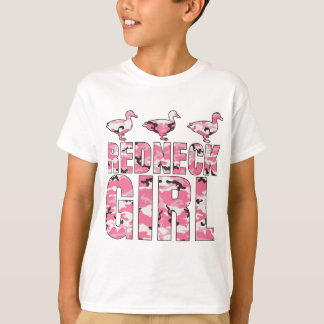 Redneck Girl Pink Camouflage 3 Ducks T-Shirt
