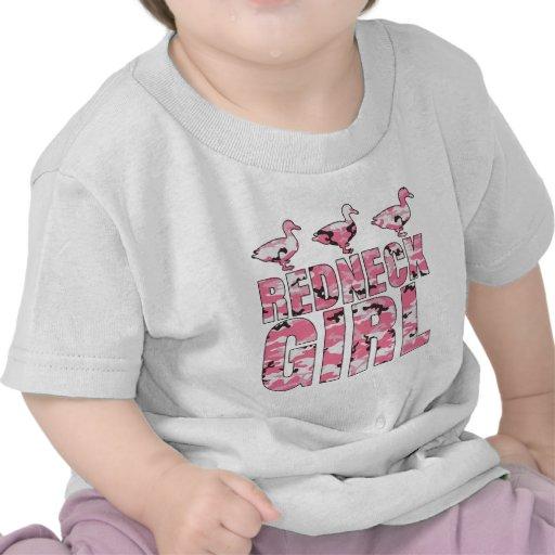 Redneck Girl Pink Camouflage 3 Ducks Tshirts