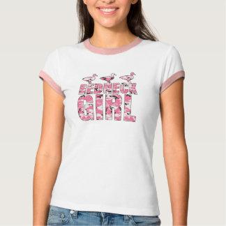 Redneck Girl Pink Camouflage Ducks Ringer Shirt