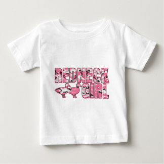 Redneck Girl Pink Camouflage Two Ducks Baby T-Shirt