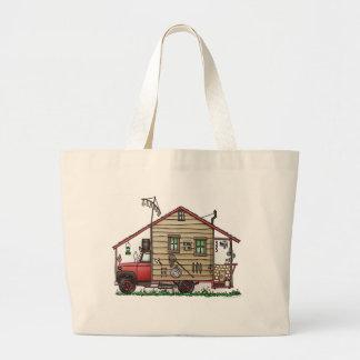 Redneck Hillbilly Camper Bags/Totes Jumbo Tote Bag