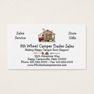 Redneck Hillbilly Camper Keychains Business Card