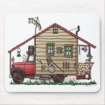 Redneck Hillbilly Camper Mousepads