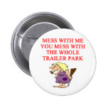 redneck hillbilly joke 2 inch round button