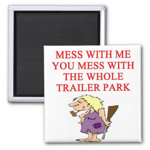 redneck hillbilly joke 2 inch square magnet