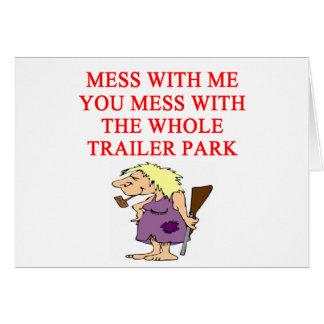 redneck hillbilly joke greeting card
