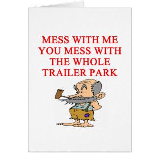 redneck hillbilly joke card