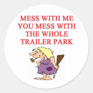 redneck hillbilly joke sticker