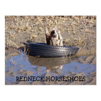 REDNECK HORSESHOES POST CARD