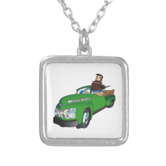 REDNECK IN A PICKUP NECKLACE