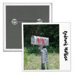 Redneck Mailbox 2 Inch Square Button