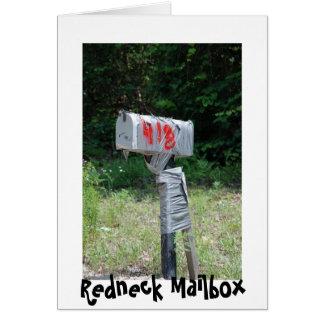 Redneck Mailbox Greeting Card