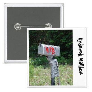 Redneck Mailbox Pinback Button
