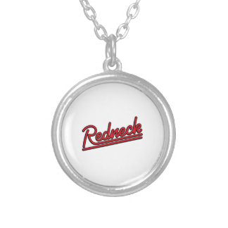 Redneck neon light silver plated necklace