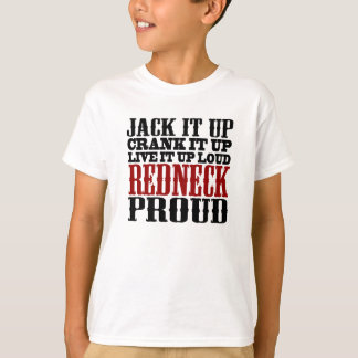 Redneck Proud (Black and Red) T-Shirt