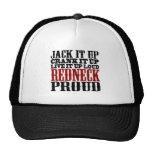 Redneck Proud (Black and Red) Trucker Hat