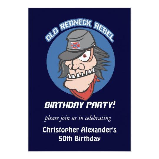 Redneck Rebel Birthday Party Invitations