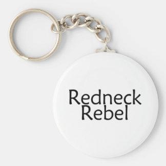 Redneck Rebel Basic Round Button Keychain