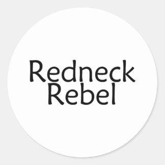 Redneck Rebel Classic Round Sticker