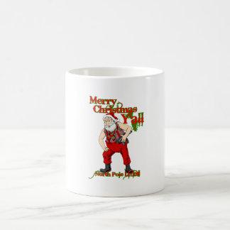 Redneck Santa Christmas Classic White Coffee Mug