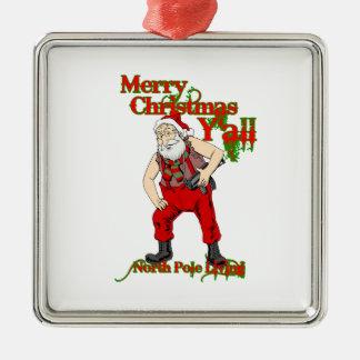 Redneck Santa Christmas Christmas Tree Ornaments