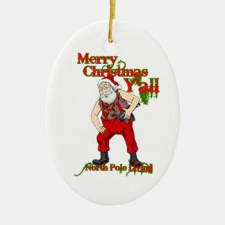 Redneck Santa Christmas Ornament