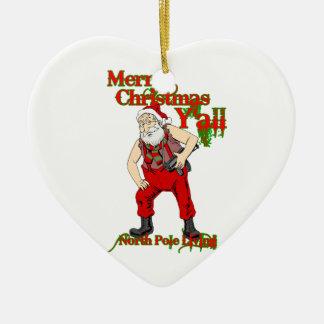 Redneck Santa Christmas Christmas Ornament
