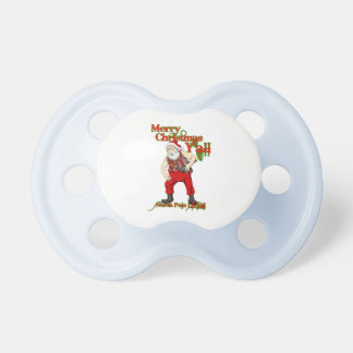 Redneck Santa Christmas Baby Pacifiers