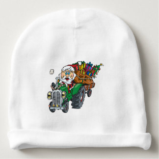 Redneck santa is coming to town on his tractor baby beanie