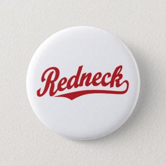 Redneck script logo pinback button