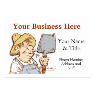 Redneck service, construction, tech support large business cards (Pack of 100)