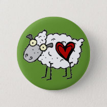 Redneck Sweetheart - Sheep Love Button