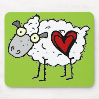 Redneck Sweetheart - Sheep Love Mouse Pad