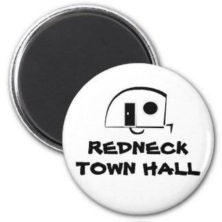 REDNECK TOWN HALL fridge magnet