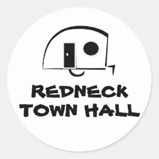 REDNECK TOWN HALL sticker