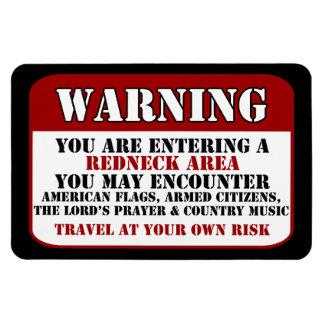 Redneck Warning Rectangular Photo Magnet