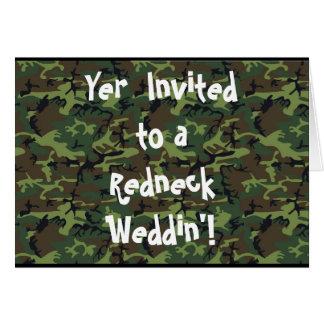 Redneck Wedding Greeting Card