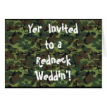Redneck Wedding Greeting Cards