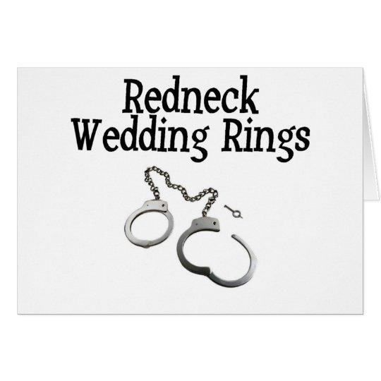 Redneck Wedding Rings Card