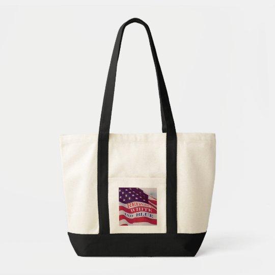 Redneck White and Blue Tote Bag