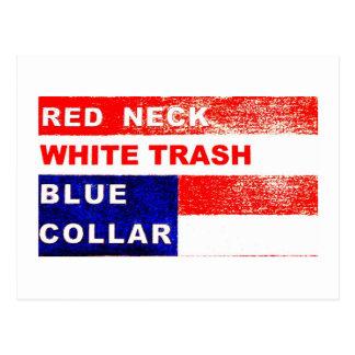 RedNeck White Trash Blue Collar Post Card